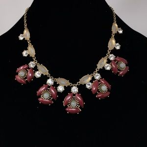 """J. Crew Statement Necklace Stone and Gems 10"""""""